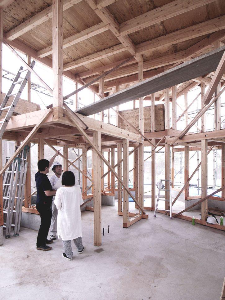 飯塚の住宅|屋根工事完了・中間検査