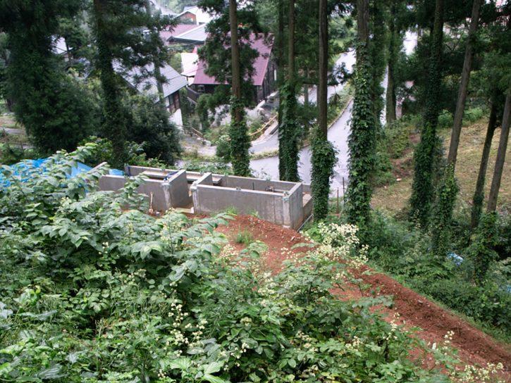 雷山の森の住宅|基礎・躯体コンクリート完了