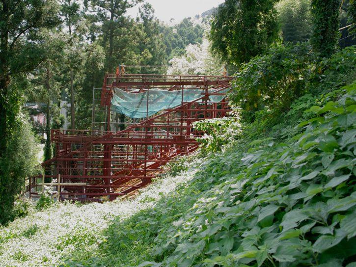 雷山の森の住宅|鉄骨建て方完了